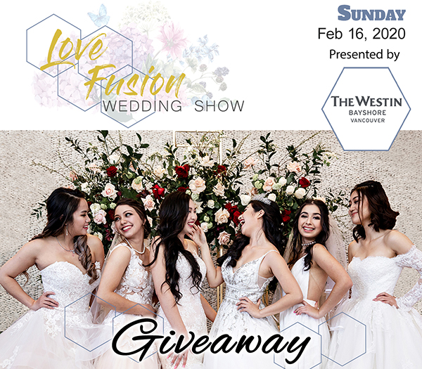 Win two tickets to Love Fusion Wedding Show